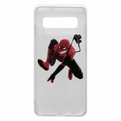 Чехол для Samsung S10 Spiderman flat vector