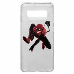 Чехол для Samsung S10+ Spiderman flat vector