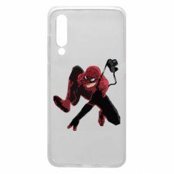 Чехол для Xiaomi Mi9 Spiderman flat vector