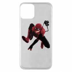 Чехол для iPhone 11 Spiderman flat vector