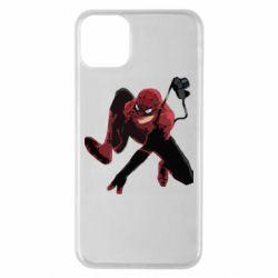Чехол для iPhone 11 Pro Max Spiderman flat vector