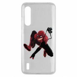Чехол для Xiaomi Mi9 Lite Spiderman flat vector