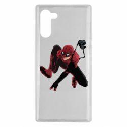 Чехол для Samsung Note 10 Spiderman flat vector