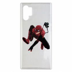 Чехол для Samsung Note 10 Plus Spiderman flat vector