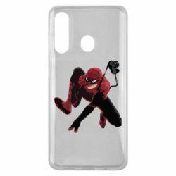 Чехол для Samsung M40 Spiderman flat vector
