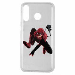 Чехол для Samsung M30 Spiderman flat vector