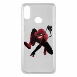 Чехол для Samsung A10s Spiderman flat vector