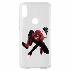 Чехол для Xiaomi Mi Play Spiderman flat vector