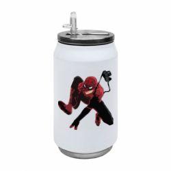 Термобанка 350ml Spiderman flat vector