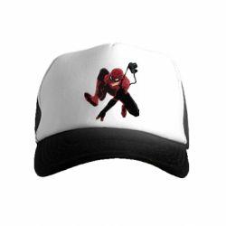 Детская кепка-тракер Spiderman flat vector