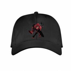Детская кепка Spiderman flat vector