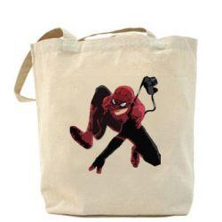 Сумка Spiderman flat vector