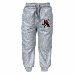 Детские штаны Spiderman flat vector