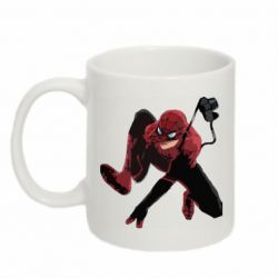 Кружка 320ml Spiderman flat vector