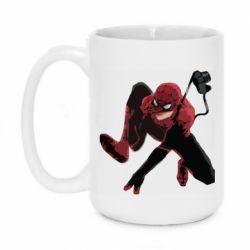 Кружка 420ml Spiderman flat vector