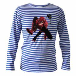 Тельняшка с длинным рукавом Spiderman flat vector