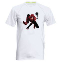 Мужская спортивная футболка Spiderman flat vector