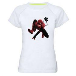 Женская спортивная футболка Spiderman flat vector