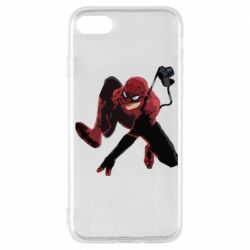 Чехол для iPhone 7 Spiderman flat vector