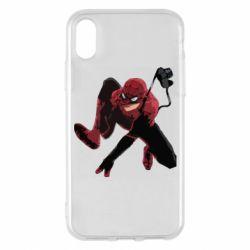 Чехол для iPhone X/Xs Spiderman flat vector
