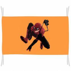 Флаг Spiderman flat vector