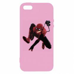 Чехол для iPhone5/5S/SE Spiderman flat vector