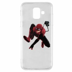 Чехол для Samsung A6 2018 Spiderman flat vector