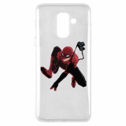 Чехол для Samsung A6+ 2018 Spiderman flat vector