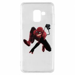 Чехол для Samsung A8 2018 Spiderman flat vector