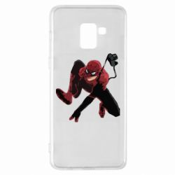 Чехол для Samsung A8+ 2018 Spiderman flat vector