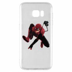 Чехол для Samsung S7 EDGE Spiderman flat vector