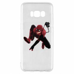 Чехол для Samsung S8 Spiderman flat vector