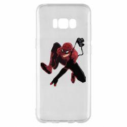 Чехол для Samsung S8+ Spiderman flat vector