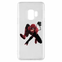 Чехол для Samsung S9 Spiderman flat vector