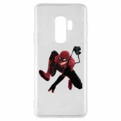 Чехол для Samsung S9+ Spiderman flat vector