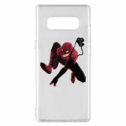 Чехол для Samsung Note 8 Spiderman flat vector