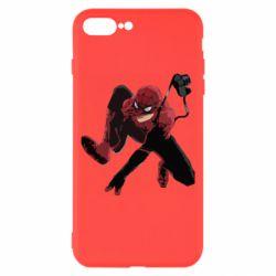 Чехол для iPhone 8 Plus Spiderman flat vector