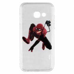 Чехол для Samsung A3 2017 Spiderman flat vector