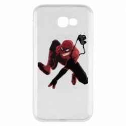 Чехол для Samsung A7 2017 Spiderman flat vector