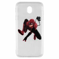 Чехол для Samsung J7 2017 Spiderman flat vector