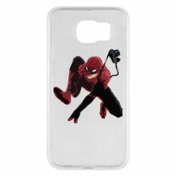 Чехол для Samsung S6 Spiderman flat vector