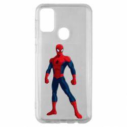 Чохол для Samsung M30s Spiderman in costume