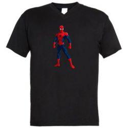 Чоловіча футболка з V-подібним вирізом Spiderman in costume