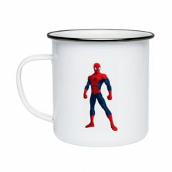 Кружка емальована Spiderman in costume