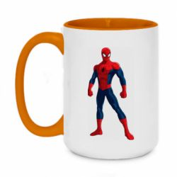 Кружка двоколірна 420ml Spiderman in costume