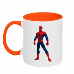 Кружка двоколірна 320ml Spiderman in costume