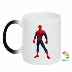 Кружка-хамелеон Spiderman in costume