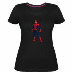 Жіноча стрейчева футболка Spiderman in costume