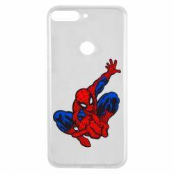 Чехол для Huawei Y7 Prime 2018 Spiderman - FatLine