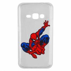 Чехол для Samsung J1 2016 Spiderman - FatLine
